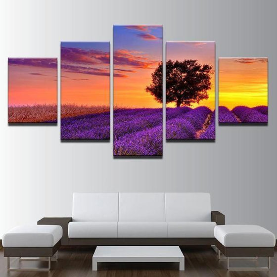 5 Piece Sunset Wall Art Ideas