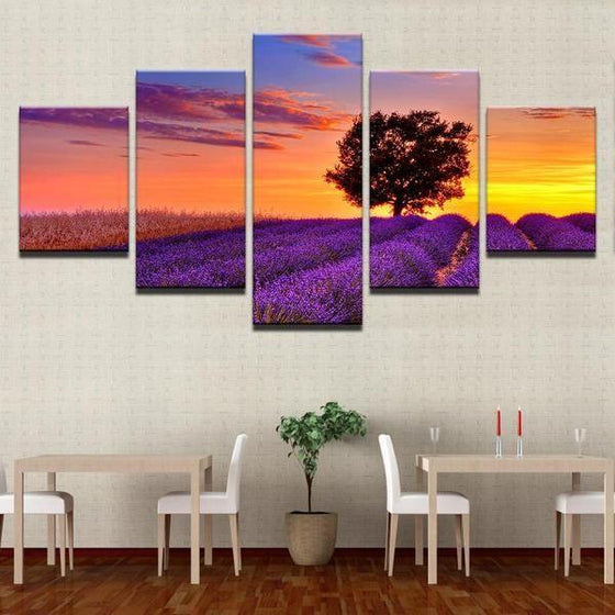 5 Piece Sunset Wall Art Print