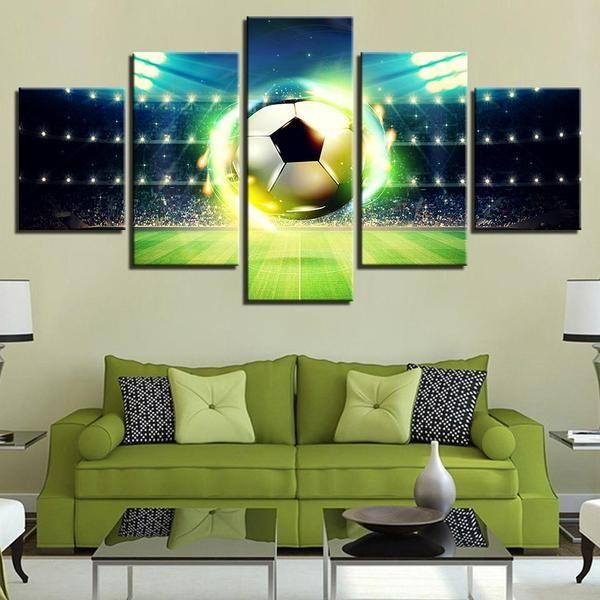 5 Piece Wall Art Sports Idea