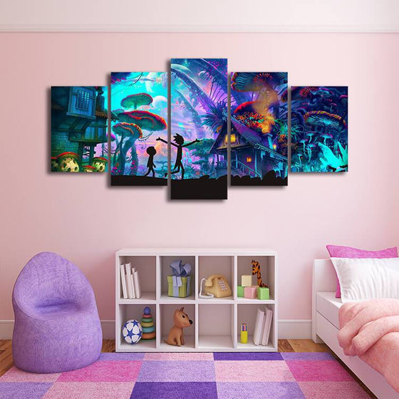 Rick & Morty Wall Art Idea