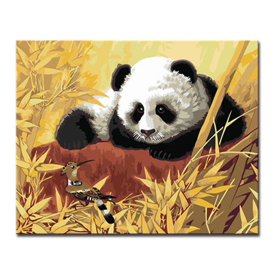 Baby Panda - DIY Painting by Numbers Kit