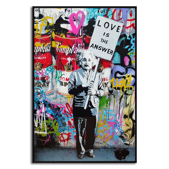 Banksy Canvas Print Wall Art