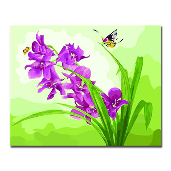Butterfly Loves Flowers - DIY Painting by Numbers Kit