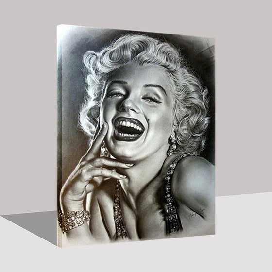 Marilyn Monroe Black And White - DIY Painting by Numbers Kit
