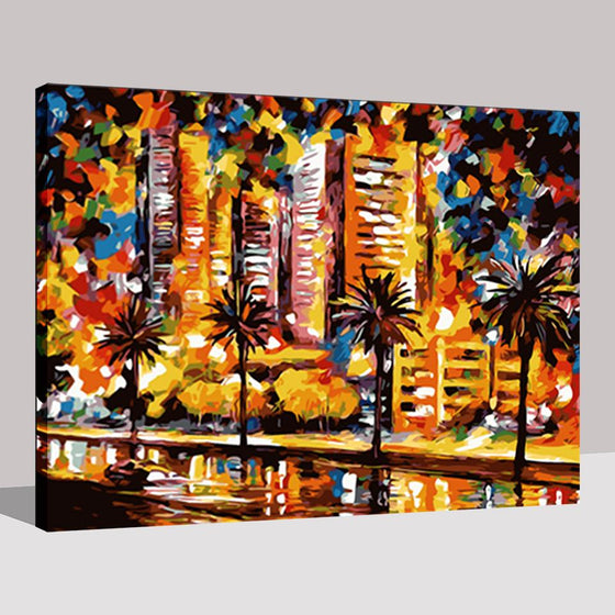 Abstract Building Landscapes - DIY Painting by Numbers Kit
