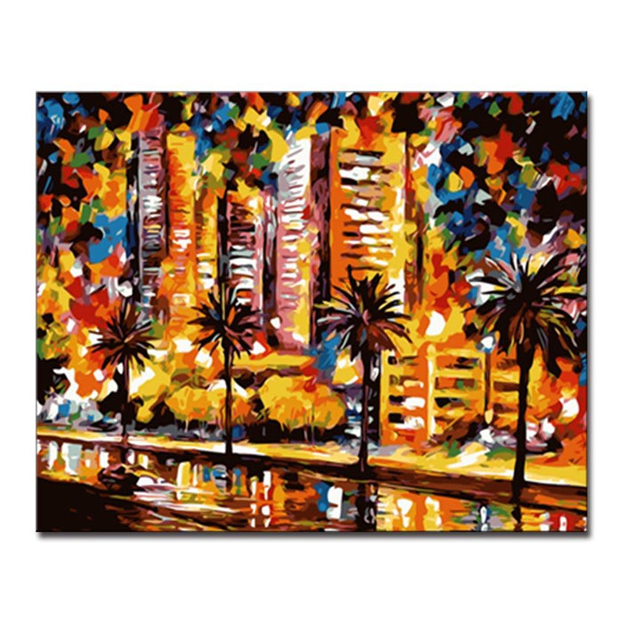 Abstract building landscapes diy painting by numbers kit canvasx abstract building landscapes diy painting by numbers kit junglespirit Choice Image