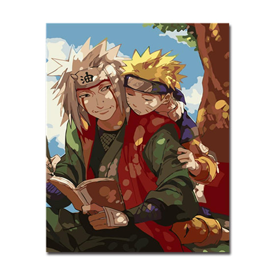 Naruto & Minato Namikaze - DIY Painting by Numbers Kit