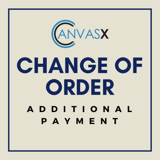 Change of Order: Additional Payment
