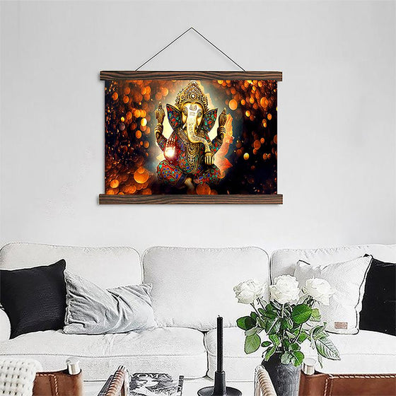 Elephant Head Ganesha 7 - Canvas Scroll Wall Art