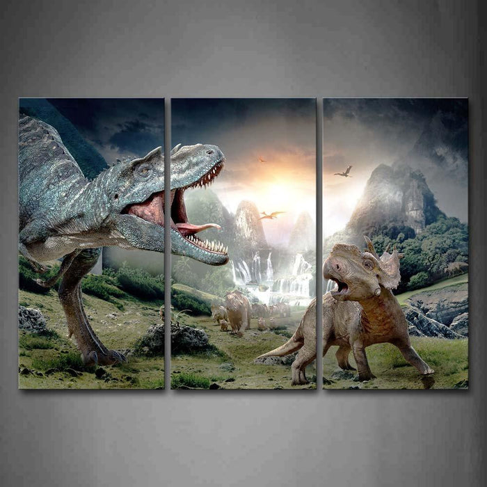 Dinosaurs in the Wild Canvas Wall Art & Dinosaurs in the Wild Canvas Wall Art u2014 canvasx.net