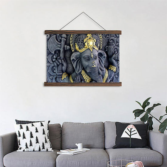 Elephant Head Ganesha 4 - Canvas Scroll Wall Art