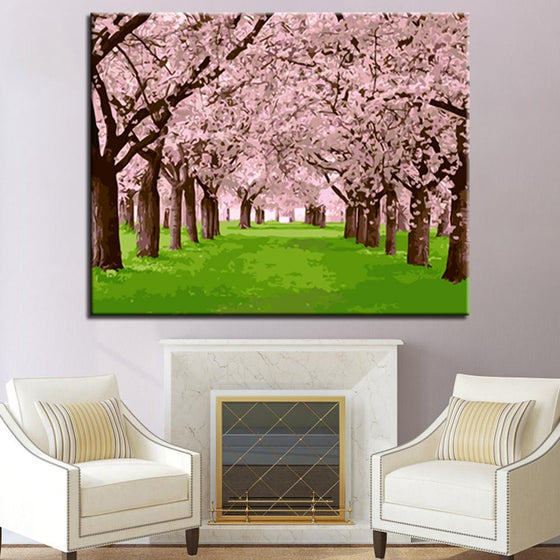 Cherry Blossoms - DIY Painting by Numbers Kit