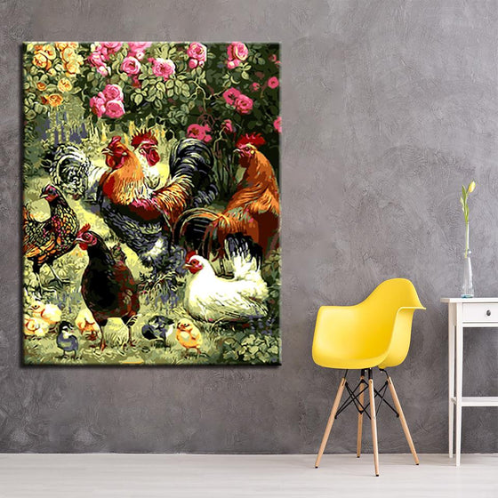 Chicke & Chicks - DIY Painting by Numbers Kit