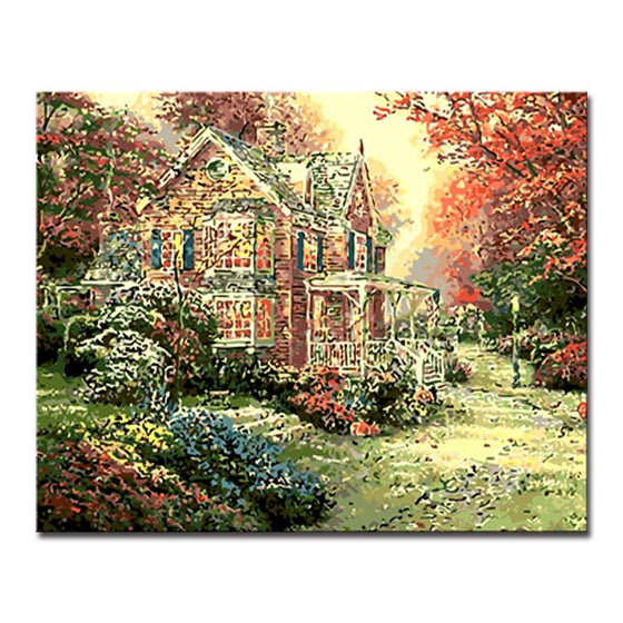 Autumn Country Cottage - DIY Painting by Numbers Kit
