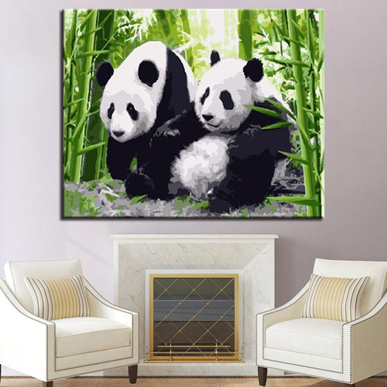 Chinese Pandas - DIY Painting by Numbers Kit