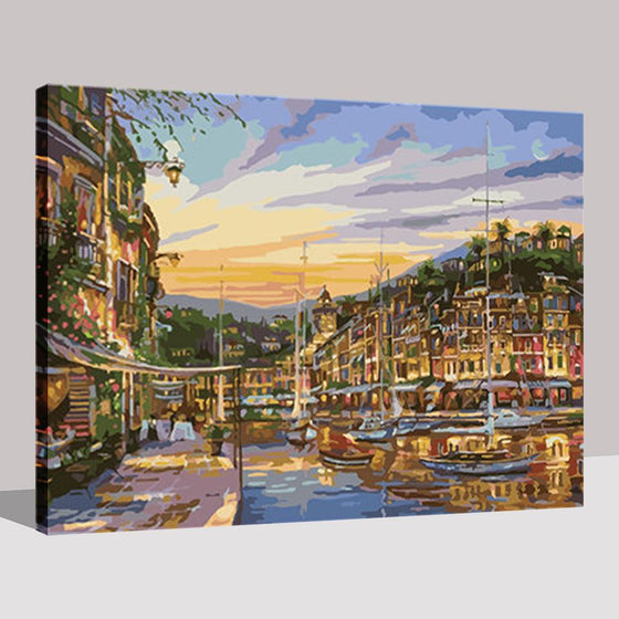 Binhai Sunset Seascape - DIY Painting by Numbers Kit