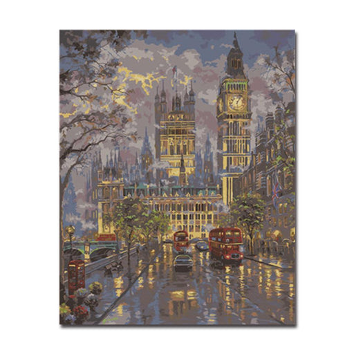 Painting by numbers canvas wall art do it yourself painting wall big ben building diy painting by numbers kit solutioingenieria Images
