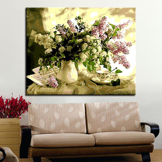 Coffee Table Flowers - DIY Painting by Numbers Kit