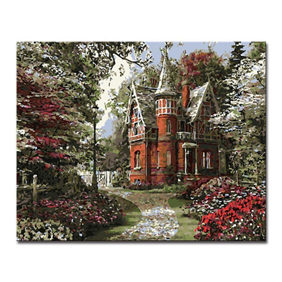 Simple Castle Landscape - DIY Painting by Numbers Kit
