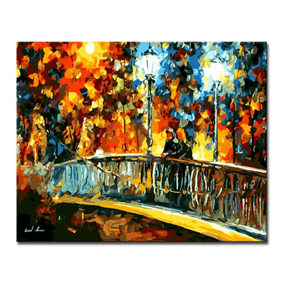 Colorful Bridge Landscape - DIY Painting by Numbers Kit