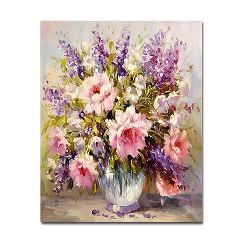 Colorful Flowers Bouquet , DIY Painting by Numbers Kit