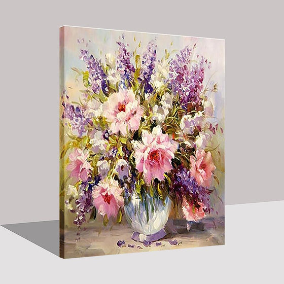 Colorful Flowers Bouquet - DIY Painting by Numbers Kit