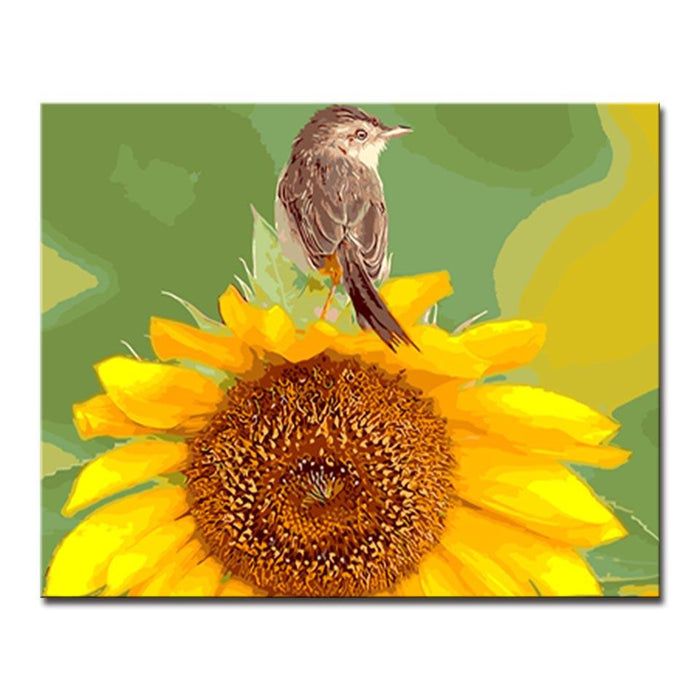 Sunflower Wall Art   DIY Painting By Numbers Kit