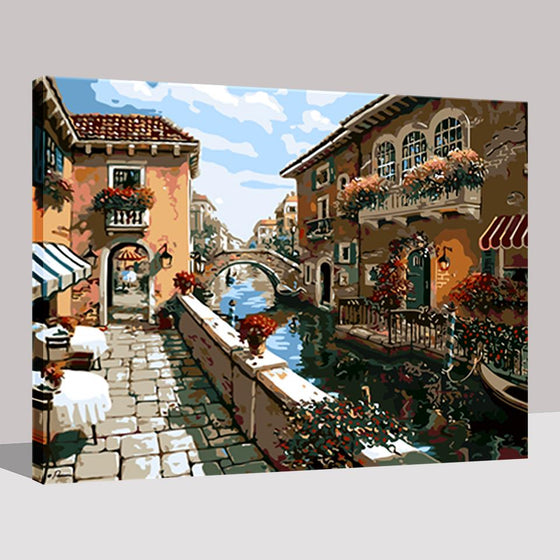 Water City Building - DIY Painting by Numbers Kit