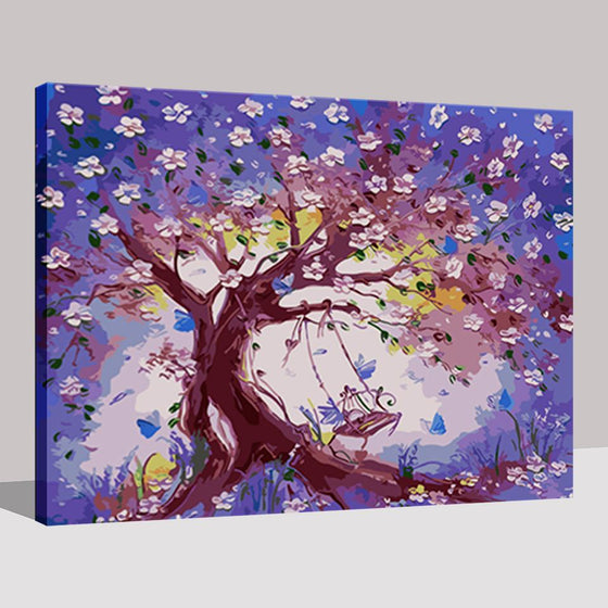 Swing On The Plum Blossom Tree - DIY Painting by Numbers Kit