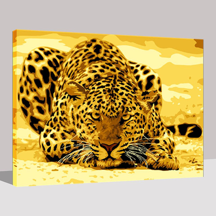 Angry Leopard - DIY Painting by Numbers Kit