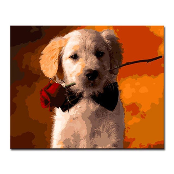 Dog Love - DIY Painting by Numbers Kit