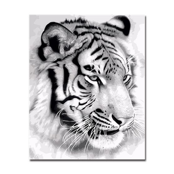 The White Tiger - DIY Painting by Numbers Kit