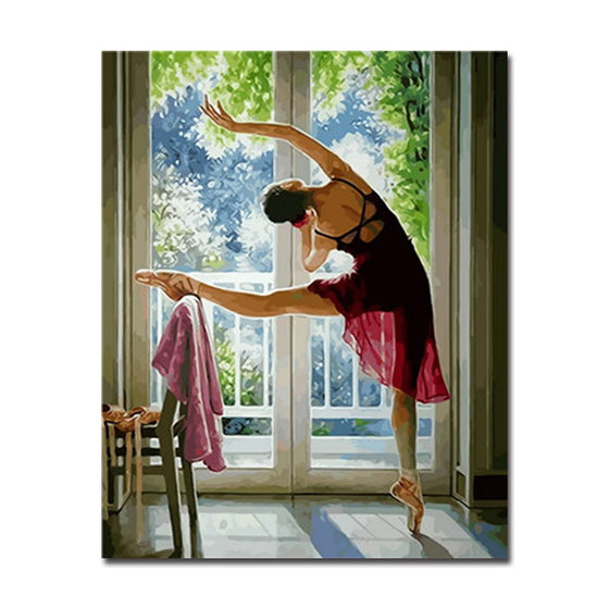 Sunrise Ballet Practice - DIY Painting by Numbers Kit