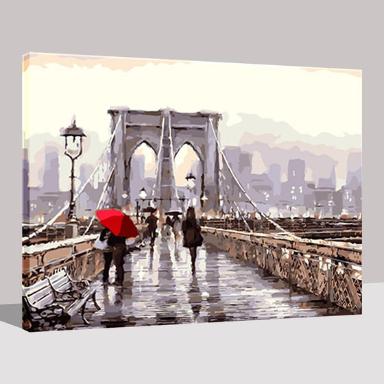 Pedestrians On The Bridge - DIY Painting by Numbers Kit