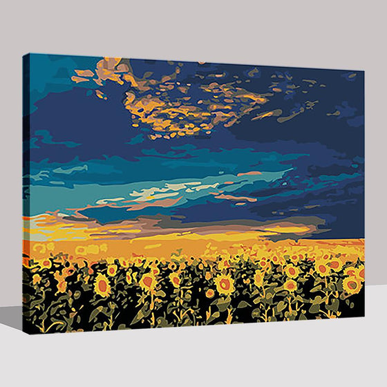 Sunflower Flower Field - DIY Painting by Numbers Kit