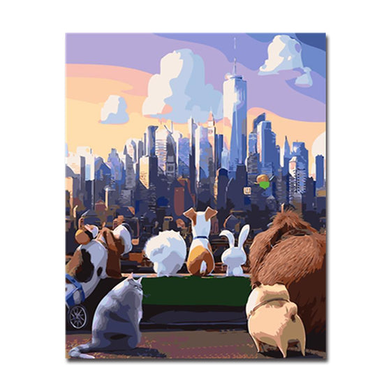 Secret Life Of Pets - DIY Painting by Numbers Kit