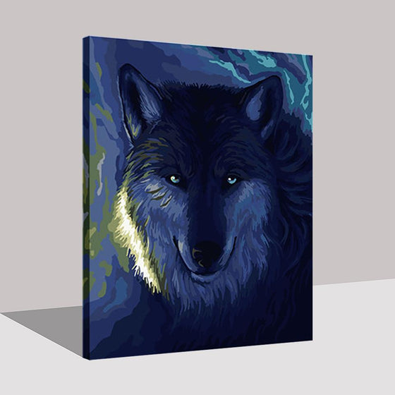 Moonlit Night Wolf - DIY Painting by Numbers Kit