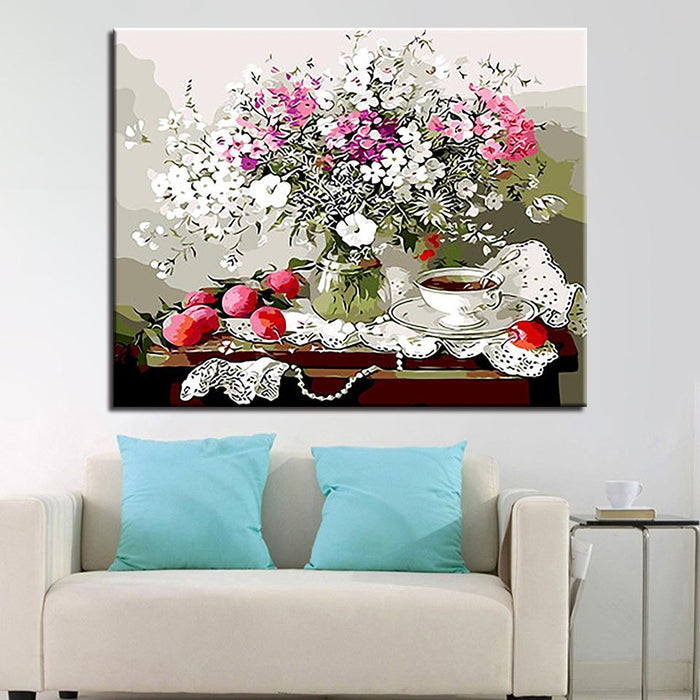 Apple Gypsophila Paniculata - DIY Painting by Numbers Kit