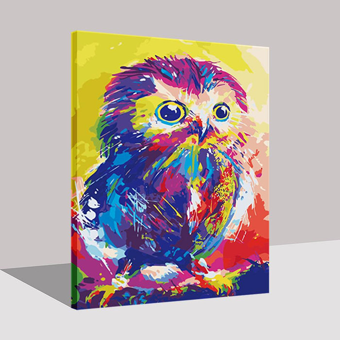 Abstract Colorful Owl - DIY Painting by Numbers Kit