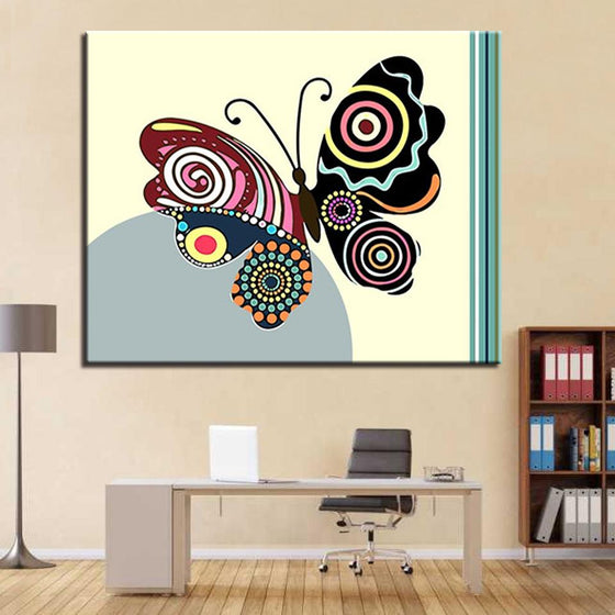Abstract Multicolored Butterfly - DIY Painting by Numbers Kit
