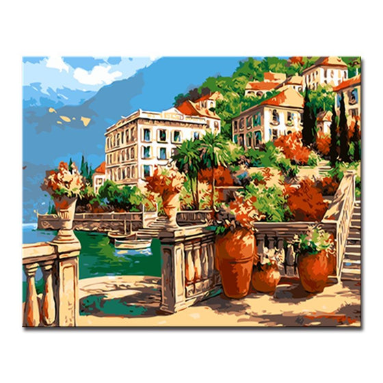 Holiday Manor Villa - DIY Painting by Numbers Kit