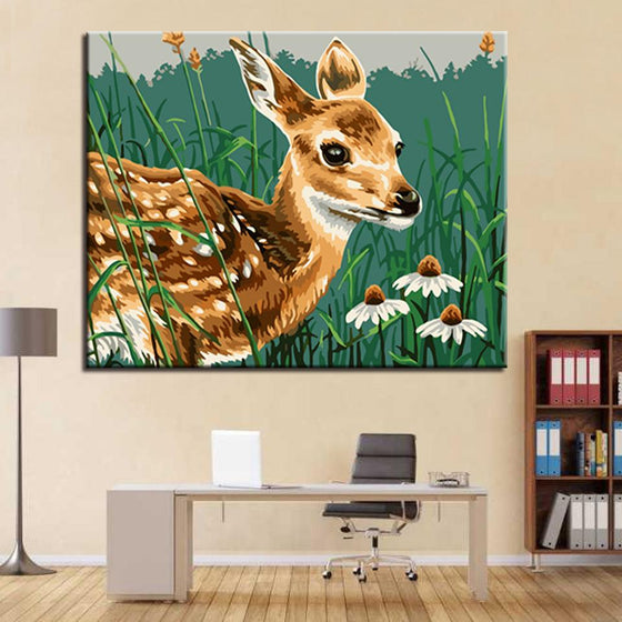 Lovely Little Sika Deer - DIY Painting by Numbers Kit