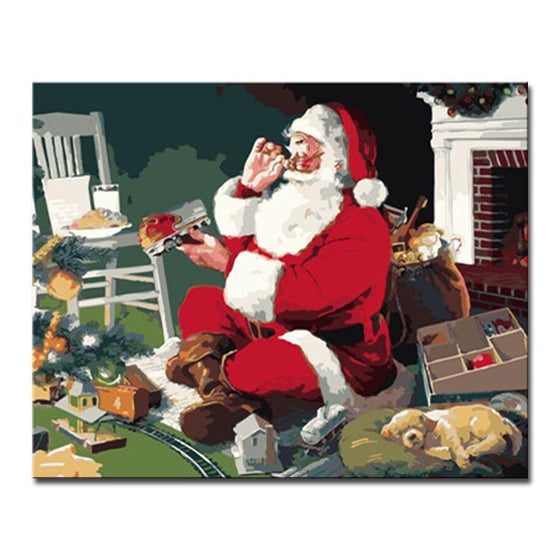 Santa Claus Gifts - DIY Painting by Numbers Kit