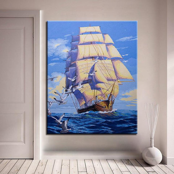 Smooth Sailing - DIY Painting by Numbers Kit