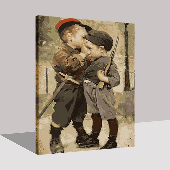 Little Soldiers Boys - DIY Painting by Numbers Kit