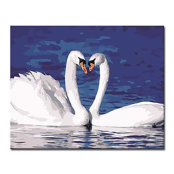 Beautiful Swan Couple - DIY Painting by Numbers Kit