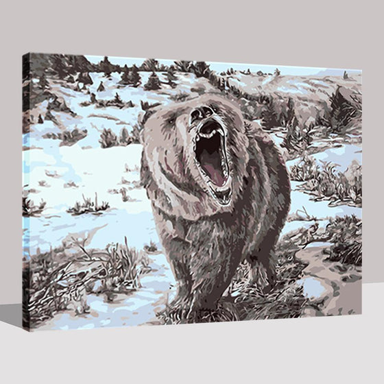 Polar Bear Roar - DIY Painting by Numbers Kit