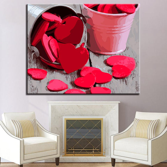 Bucket of Love Wall Art Ideas- DIY Painting by Numbers Kit