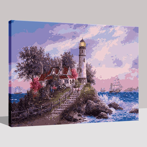 Lighthouse Seascape - DIY Painting by Numbers Kit