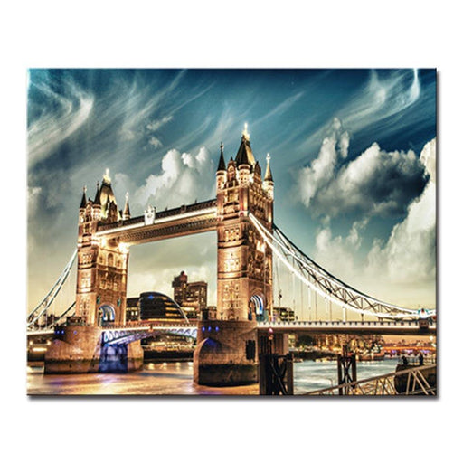 London Bridge Clouds - DIY Painting by Numbers Kit